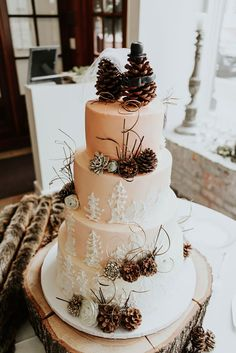 Pine Cones, Flowery Hair, and Forest Chic Combine at This Rustic Wedding // Offbeat Bride