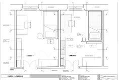 MDR.  Casa V. Progetto per le camere 1 e 2. Abitazione privata, Milano.