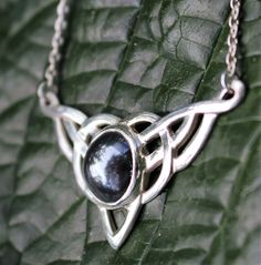 Celtic Sterling Silver and Hematite Necklace
