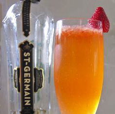 Warm, sunny weather calls for a light, cheery cocktail, and what better way to satisfy that requirement than with a champagne- and fruit-based libation?   This twist on the French 75 incorporates muddled strawberries for an even more Springlike feel,