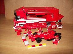 Lego #racer 8185 ferrari f1 #truck set used 100% #complete + lamborghini ,  View more on the LINK: 	http://www.zeppy.io/product/gb/2/182360035479/