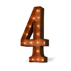 4 Four Number Marquee Light from The Rusty Marquee