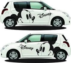 mickey car, ok my car is not quite as intense as THIS mickey car!  #inspired