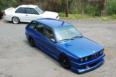 an E30 M3 bmw wagon haha so cool