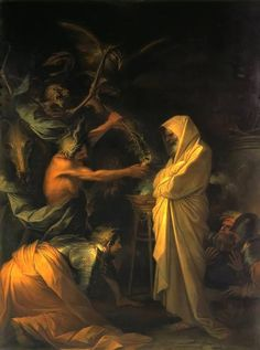 Salvator Rosa - Saul and the Witch of Endor (1668)