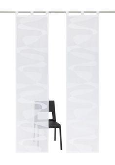 Details Aufhängung Klettband:  Der Artikel wird ohne Paneelwagen und Beschwerungsstange geliefert. Den passenden Paneelwagen incl. Beschwerungsstange können Sie unter der Artikelnummer 874968 gleich mitbestellen.,  Details Aufhängung Schlaufen:  Lieferung inklusive Beschwerungsstangen., Aufhängung erfolgt mittels Schlaufen an der Gardinenstange,  Design:  Glatte Oberfläche, Unifarben, Gemustert...