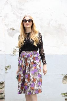 Floral - Poppies and Cornflowers My Outfit, Poppies, Floral, Skirts, Outfits, Beautiful, Fashion, Moda, Skirt
