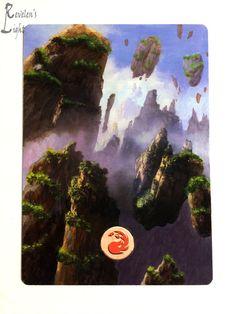 Mountain - Full Art Land - MTG Alter - Revelen's Light Altered Art Magic Card #WizardsoftheCoast