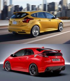 honda civic type r 2014 ford focus st vs 2015 honda civic type r - 2014 Ford Focus St Red
