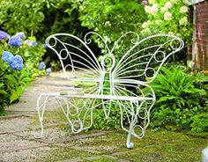 adorable butterfly bench for the garden. It would look great in my shade garden.
