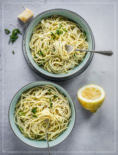 Linguine, Pasta, Spaghetti, Ethnic Recipes, Food, Al Dente, Drinks, Kitchens, Lemon