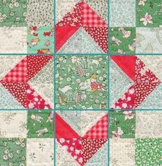 """.The term """"Nine Patch"""" refers to the tried-and-true quilt block pattern, but did you know it also refers to an entire category of blocks? Any block that has seams that divide units equally into nine sections falls into the Nine Patch category (like the """"Baby Sukey"""" block). by isabellabowen8262"""