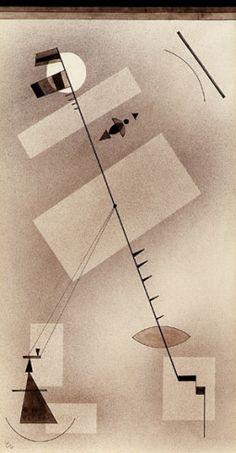 Collection Online   Vasily Kandinsky. Taut Line (Gespannte Linie). July 1931 - Guggenheim Museum