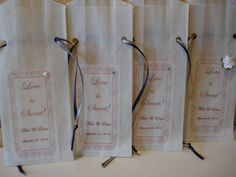 100 Personalized Wedding Favor Food Safe Bags - Candy Bars - Cookies - Treat Bars - Scroll Heart Border or You Pick Design.