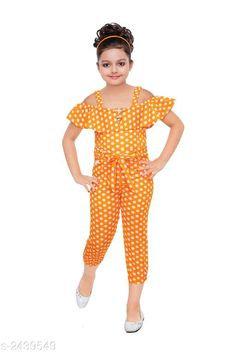 Jumpsuits Stunning Kid's Girl's Jumpsuit Fabric: Polyester Blend Sleeves: Sleeves Are Included Size:Age Group (18 Months - 24 Months) - 20 in Age Group (2 - 3 Years) - 22 in Age Group (3 - 4 Years) - 24 in Age Group (4 - 5 Years) - 26 in Age Group (5 - 6 Years) - 28 in Age Group (6 - 7 Years) - 30 in Type:Stitched  Description:It Has 1 Piece of Kid's Girl's Jumpsuit Work: Polka Dotted Sizes Available: 2-3 Years, 3-4 Years, 4-5 Years, 5-6 Years, 6-7 Years, 7-8 Years, 8-9 Years, 1-2 Years *Proof of Safe Delivery! Click to know on Safety Standards of Delivery Partners- https://ltl.sh/y_nZrAV3  Catalog Rating: ★4.1 (2101)  Catalog Name: Stunning Kid's Girl's Jumpsuits Vol 3 CatalogID_327004 C62-SC1156 Code: 992-2439549-