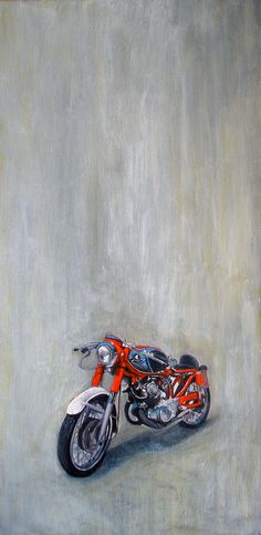 Commissioned Car/Motorcycle Painting by Virginia Earle, via Behance
