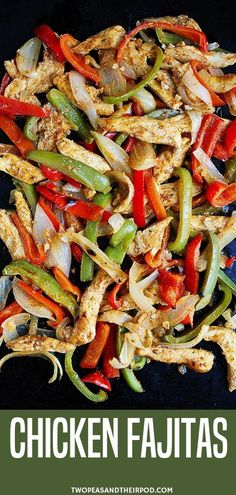 Sheet Pan Chicken Fajitas Are The Perfect Quick And Easy Weeknight Dinner! This Flavorful Fajita Recipe Combines Marinated Chicken, Peppers, Onion, And A Mix Of Seasonings. It Is A Family Favorite! These homemade chicken fajitas are SO easy. Chicken Fajita Rezept, Easy Chicken Fajitas, Chicken Peppers And Onions, Best Fajita Recipe, Fajita Mix, Best Chicken Recipes, Easy Chicken Fajita Recipe, Marinated Chicken Recipes, Meat Recipes