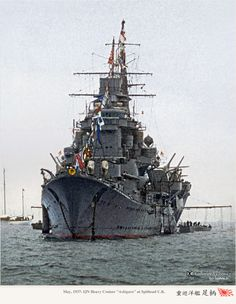 Imperial Japanese Navy in colorized photos Adolf Galland, Heavy Cruiser, Imperial Japanese Navy, Ship Of The Line, Colorized Photos, Naval History, United States Navy, Navy Ships, Cruises