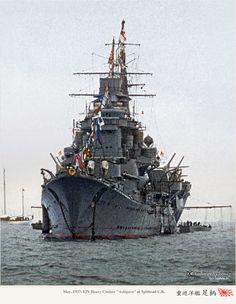 """ジョージ六世戴冠式記念観艦式式場に仮泊する 重巡洋艦妙高型『足柄』 (昭和12年5月 英国スピットヘッド沖) May 1937 Myoko-class Heavy cruiser """"Ashigara"""" at Spithead U.K"""