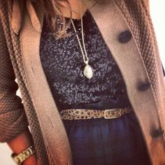 Knit, sequin, leopard, and plaid.