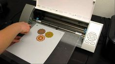 How to Print and Cut using the Silhouette CAMEO® - Print with regular printer, use registration marks so the CAMEO knows where to cut the image