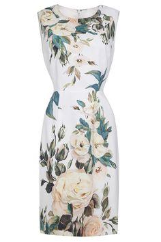 Flower Print Straight Dress