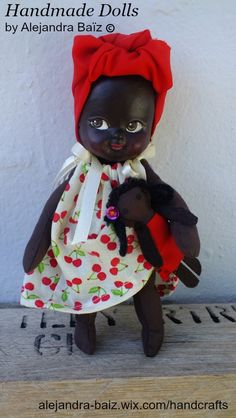 Little fabric doll inspired in our African Heritage.