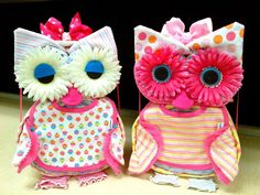 Owl Diaper Cake Unique Baby Shower Gift by whimseycraft on Etsy, $65.00