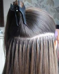 Extensions rather like these, they're attached with micro bands so they don't damage your hair. need some extra thickness in my hair BADLY