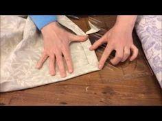 come realizzare l'angolo a cappuccio sulle tovaglie - YouTube