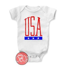 Usa 3 Stars Baby Onesie //Price: $13.75    #clothing #shirt #tshirt #tees #tee #graphictee #dtg #bigvero #OnSell #Trends #outfit #OutfitOutTheDay #OutfitDay