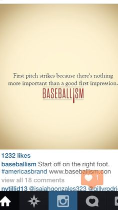 and you do get a second chance to make that first impression, but only to follow up with Strike #2. Baseball