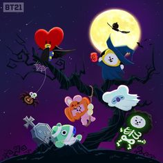 Official Halloween Plush Doll Standing Doll Celebrate your Halloween with these cute and cuddly Plush Dolls from the official BTS goods! Bts Chibi, Bts Halloween, Halloween Cookies, Happy Halloween, Halloween Themes, Leprechaun, Bt 21, Les Bts, Halloween Wallpaper