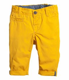 H&M chinos. $13. I wonder if I could get Adam in yellow chinos?