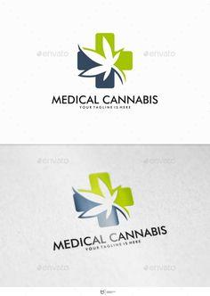 Medical Cannabis Logo Design Template - Nature Logo Templates Vector EPS, AI Illustrator. Download here: https://graphicriver.net/item/medical-cannabis-logo/12577336?ref=yinkira