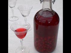 Likér z červeného rybízu - | Prostřeno.cz Bourbon Vanille, Alcoholic Drinks, Beverages, Liquor, Smoothie, Food And Drink, Pudding, Healthy, Glass