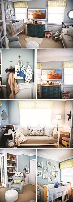 LOVE This nursery....layout colors everything!  No bunny though....