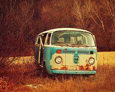 VW Van Photograph  Hippie  Counterculture   Warm  by SquareScott, $30.00