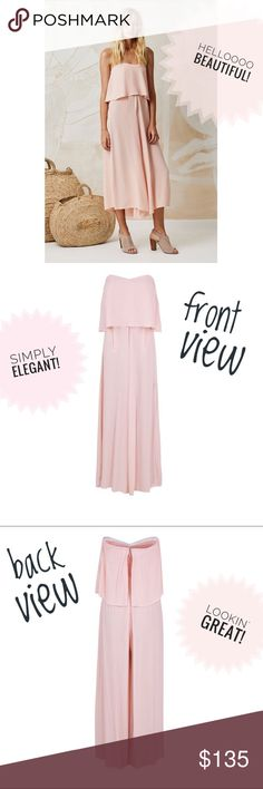 NWT Mister Zimi Florence Jumpsuit (blush) Super cute (and a little sexy!) Mister Zimi brand strapless jumpsuit with frill overlay, coulotte style pant with pocket detail.  Elasticized back with zip.  Brand new with tags and never worn!   It's an Australian size 8, so it fits a small.  Fits a short and regular torso.  I'm trying to make some extra cash for my wedding - so make me an offer and let's both get a deal! Anthropologie Other