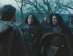 Nicolas Cage, Ron Perlman, Stephen Campbell Moore, and Robert Sheehan in Season of the Witch Stephen Campbell Moore, Ron Perlman, Simon Lewis, Robert Sheehan, Season Of The Witch, Nicolas Cage, Knights Templar, Good Movies, Jon Snow