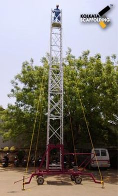 Mobile Tower Ladder : S.R.Engineering Corporation, a leading supplier and exporter of Mobile Tower Ladders widely used in various industrial purposes such as working on tower Aluminum Tower Ladder and placing of cables. We have ensured that this product has high end corrosion resistance keeping in mind the tough operating functionalities.