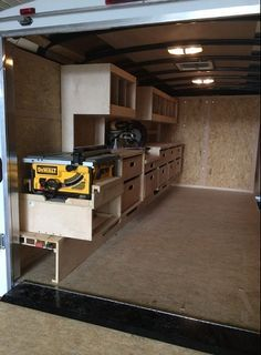 Job Site Trailers, Show Off Your Set Ups! - Page 67 - Tools & Equipment Job site trailers, show off Work Trailer, Trailer Plans, Trailer Build, Utility Trailer, Cargo Trailers, Trailer Shelving, Van Shelving, Trailer Storage, Truck Storage