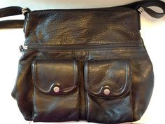 Stone Mountain Brown Leather Shoulder Bag - Medium-Sized, 7 Pockets…