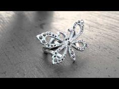 Papillion Ring with Black Diamonds  http://www.sofferaristore.com/pariwibldi.html