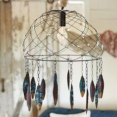 Junk Gypsy Dream Catcher Chandelier #bohemian #boho #home