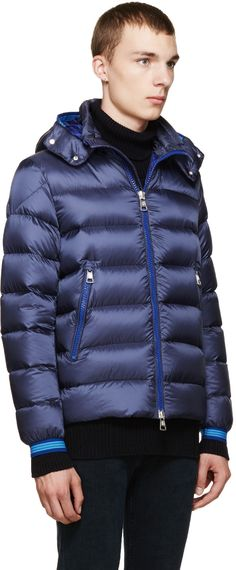 Moncler Navy Nylon Down Thoule Jacket