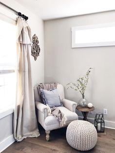 Bashir armchair Modern farmhouse Shabby chic living room