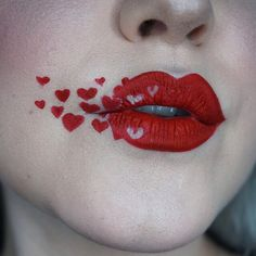 HEART ATTACK Close up of my today! Lips are Redrum Skin is Teint Touche Éclat foundation Highlight is Pearl Lip Art, Lipstick Art, Lipstick Colors, Lip Colors, Lipsticks, Lipstick Designs, Lip Designs, Lipstick For Fair Skin, Love Lips
