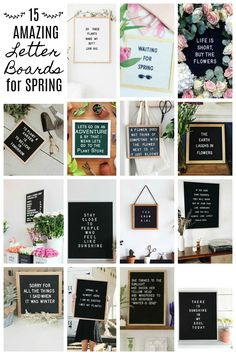 15 Amazing Letter Board Ideas for Spring - Farmhouse Blooms