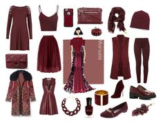 """""""pantone colors - fall 2015 - marsala"""" by lily-vs-amelie on Polyvore featuring Tory Burch, Acne Studios, J Brand, Gianvito Rossi, M&S, Kenneth Cole Reaction, ALDO, Glamorous, T By Alexander Wang and OtterBox"""